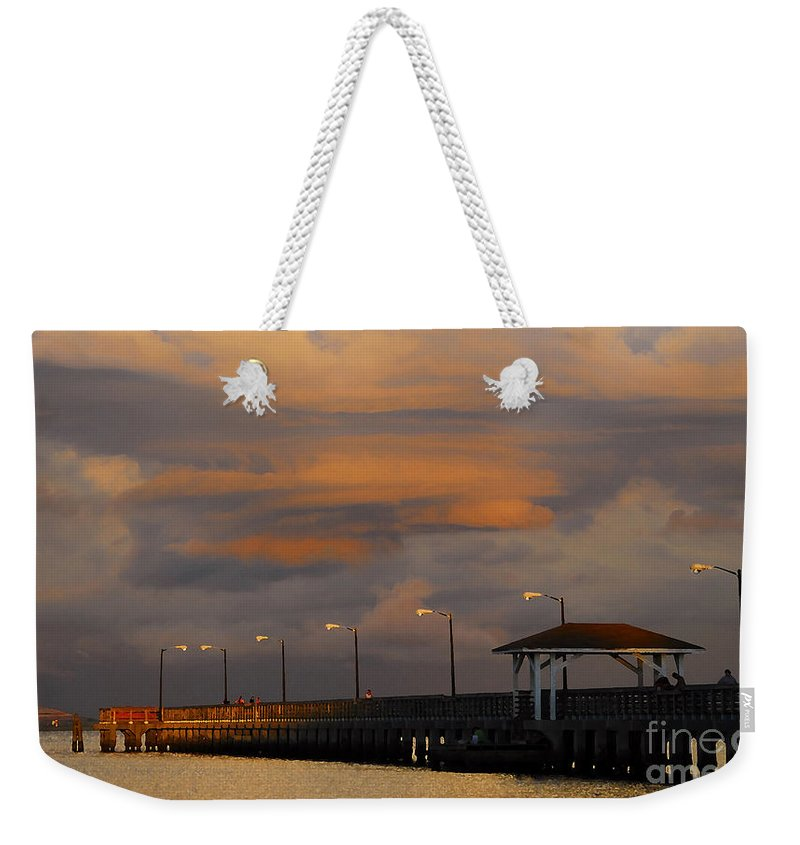 Storm Weekender Tote Bag featuring the photograph Storm Over Ballast Point by David Lee Thompson