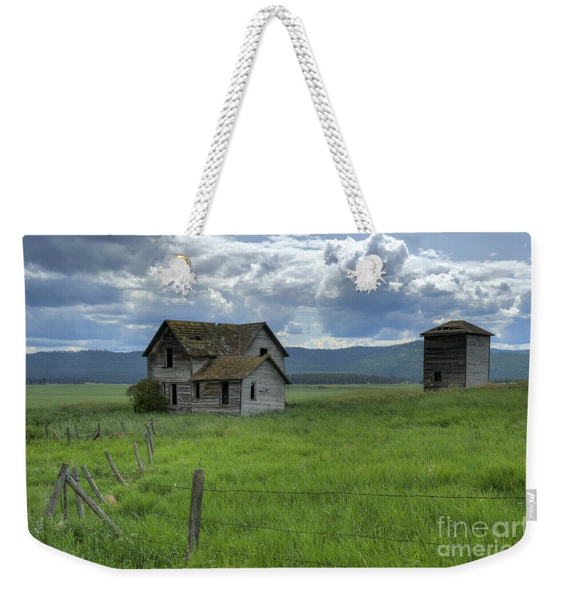 Hdr Weekender Tote Bag featuring the photograph Storm Over Big Sky by Sandra Bronstein