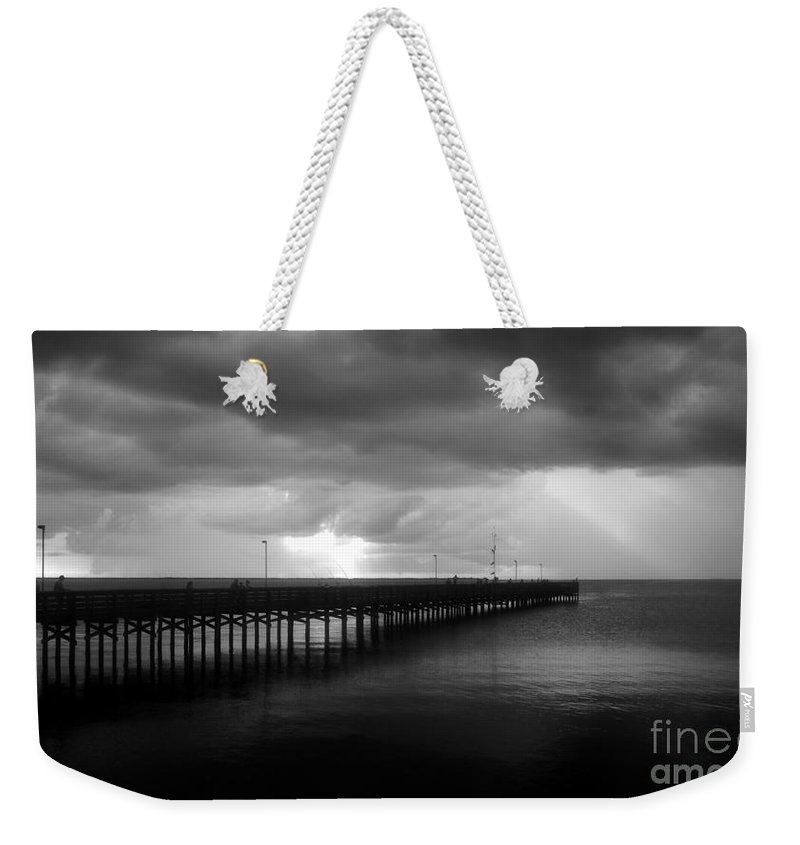 Anclote Keys Weekender Tote Bag featuring the photograph Storm Over The Anclote by David Lee Thompson