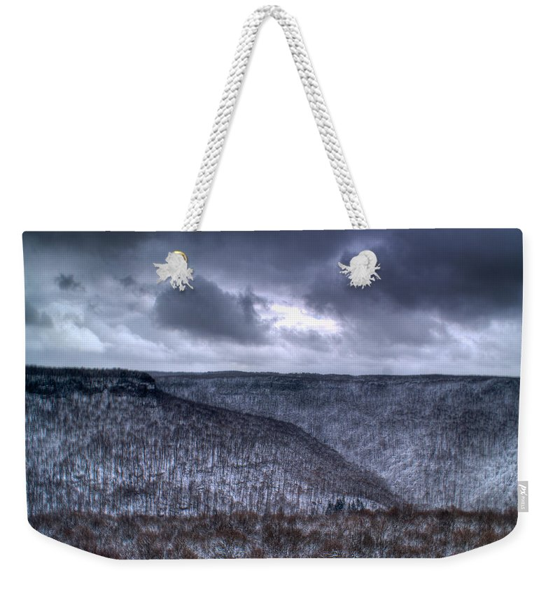 Mesa Weekender Tote Bag featuring the photograph Storm Over The Mesa by Douglas Barnett
