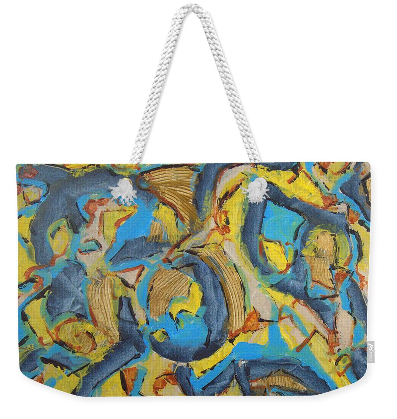 Abstract Weekender Tote Bag featuring the painting Storm by Robert Dalton