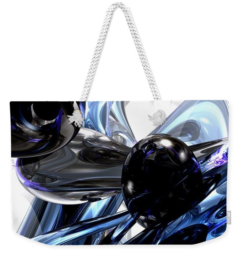 3d Weekender Tote Bag featuring the digital art Storm Shadow Abstract by Alexander Butler