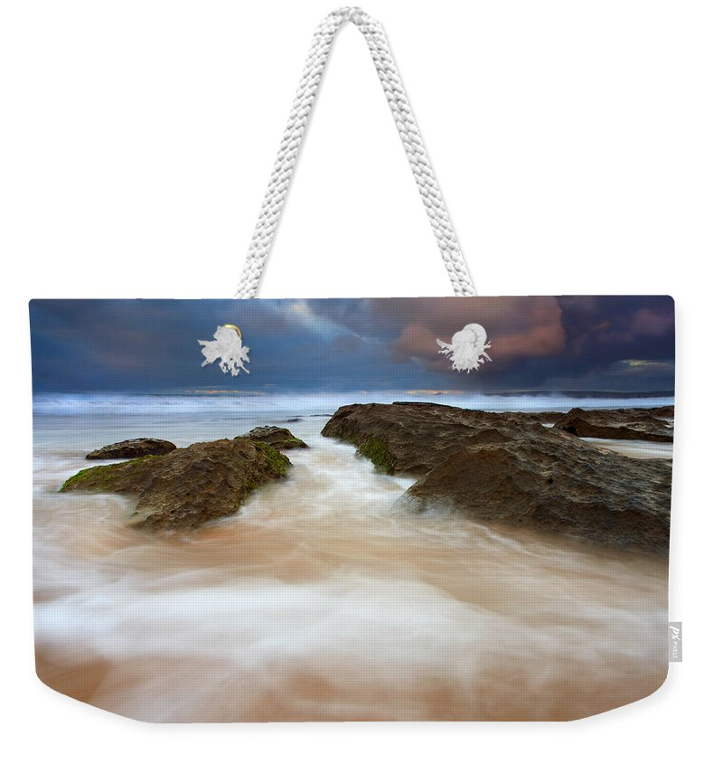 Seascape Weekender Tote Bag featuring the photograph Storm Shadow by Mike Dawson