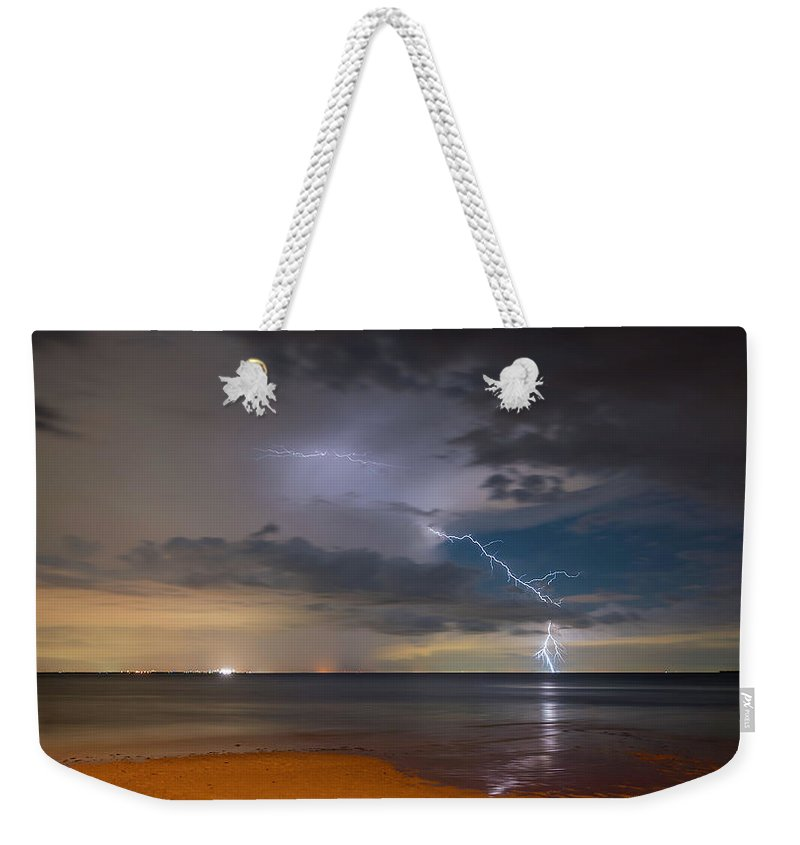 Storm Weekender Tote Bag featuring the photograph Storm Tension by Marvin Spates