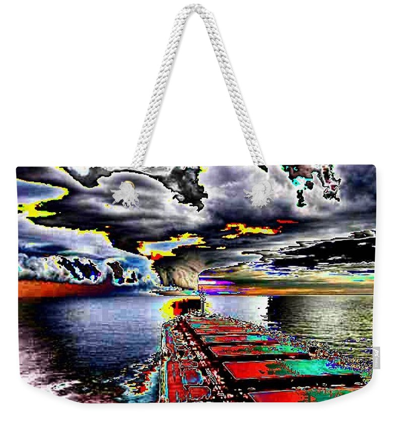 Storm Clouds Weekender Tote Bag featuring the photograph Storm Warning by Tim Allen