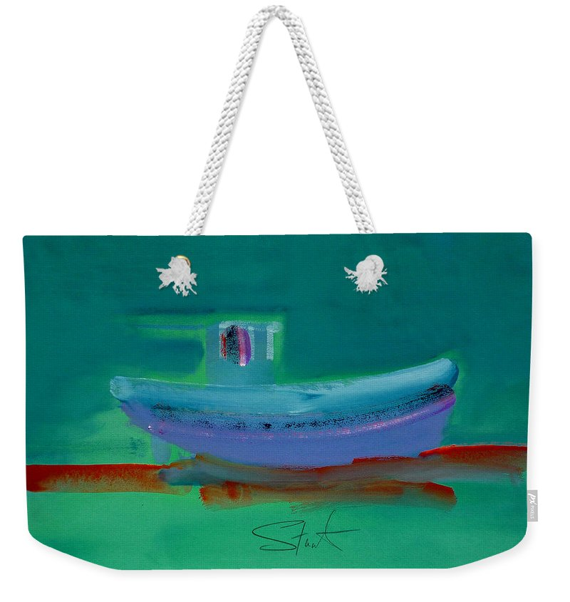 Deep Weekender Tote Bag featuring the painting Stormbringer by Charles Stuart