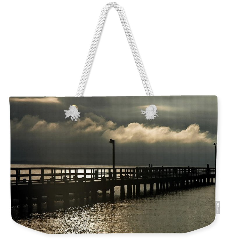 Clay Weekender Tote Bag featuring the photograph Storms Brewin' by Clayton Bruster