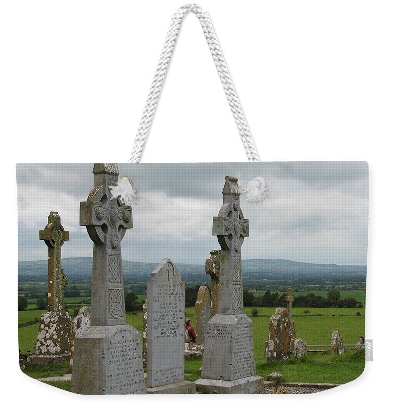 Celtic Cross Weekender Tote Bag featuring the photograph Storms Comming by Kelly Mezzapelle