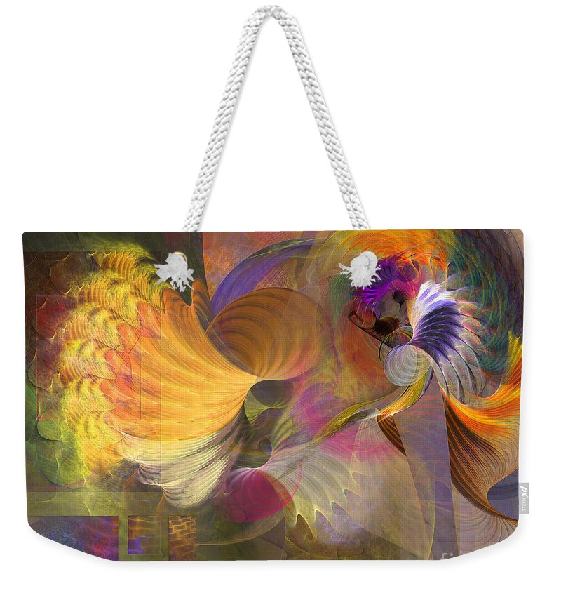 Storms On Sheridan Weekender Tote Bag featuring the digital art Storms On Sheridan by John Beck