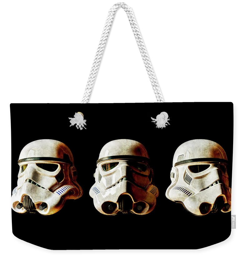 Stormtrooper Weekender Tote Bag featuring the photograph Stormtrooper 1-3 Weathered by Weston Westmoreland