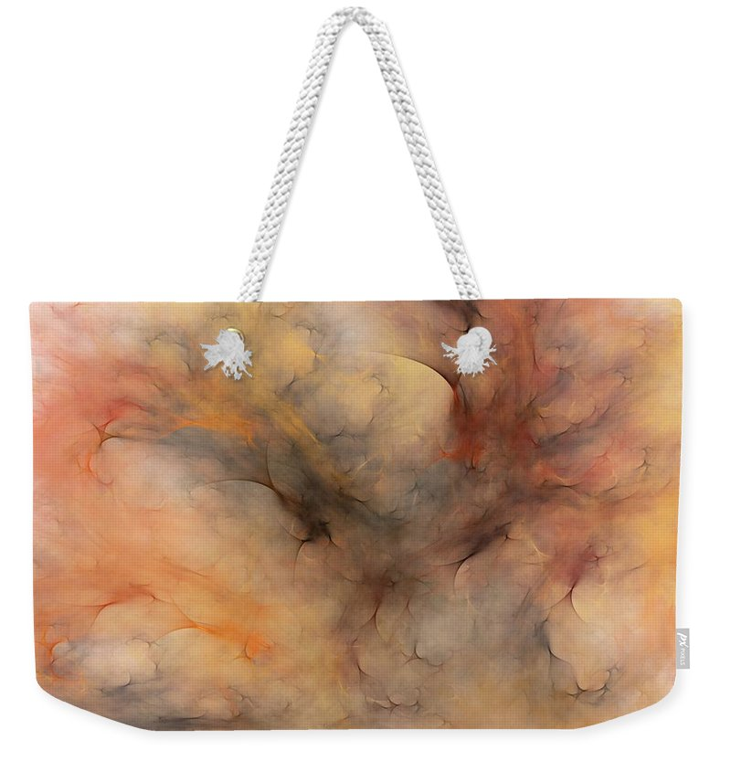 Abstract Weekender Tote Bag featuring the digital art Stormy by David Lane