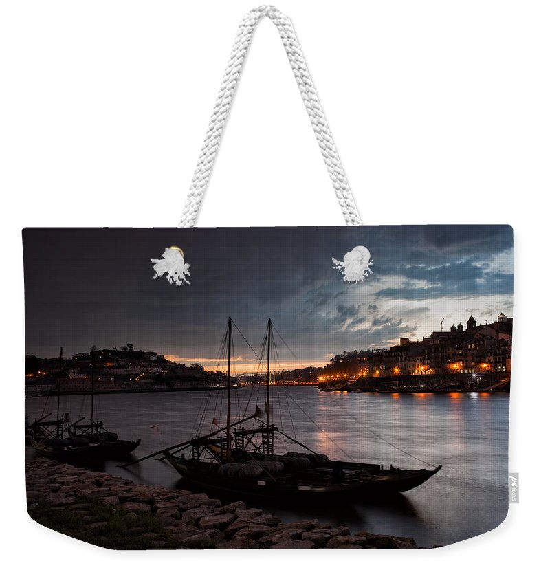 Porto Weekender Tote Bag featuring the photograph Stormy Evening Sky Above Porto And Gaia by Artur Bogacki
