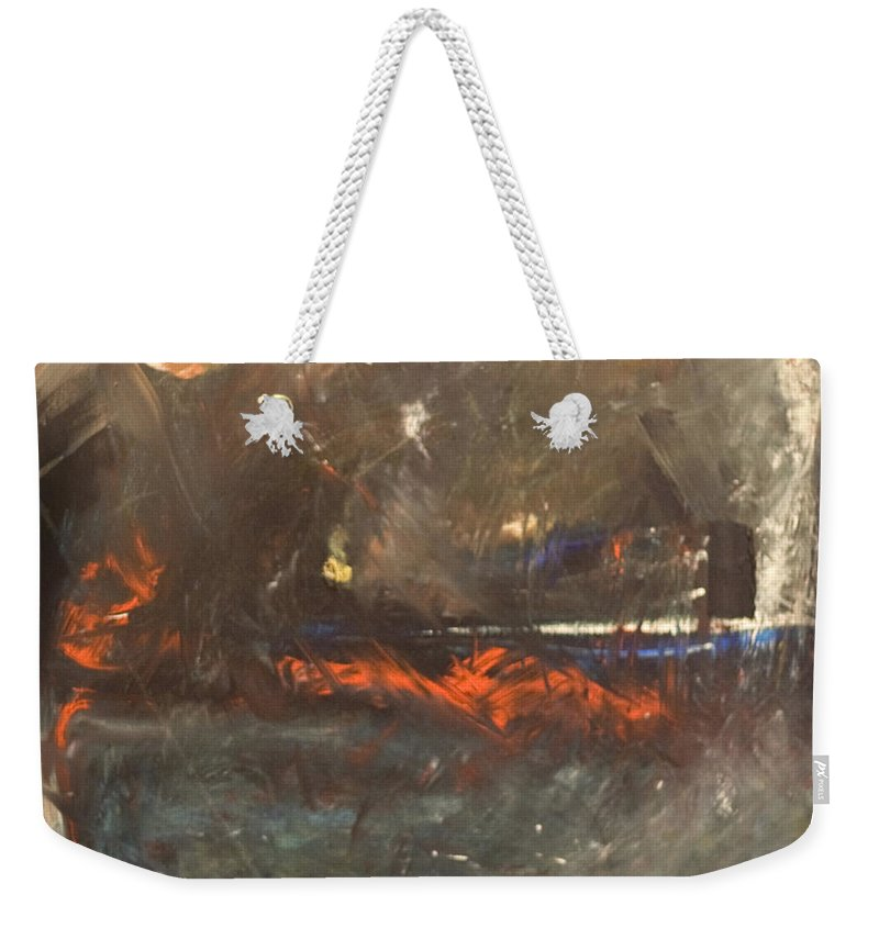 Storm Weekender Tote Bag featuring the painting Stormy Monday by Tim Nyberg