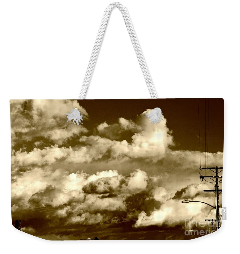Clay Weekender Tote Bag featuring the photograph Stormy Skies In Socal by Clayton Bruster