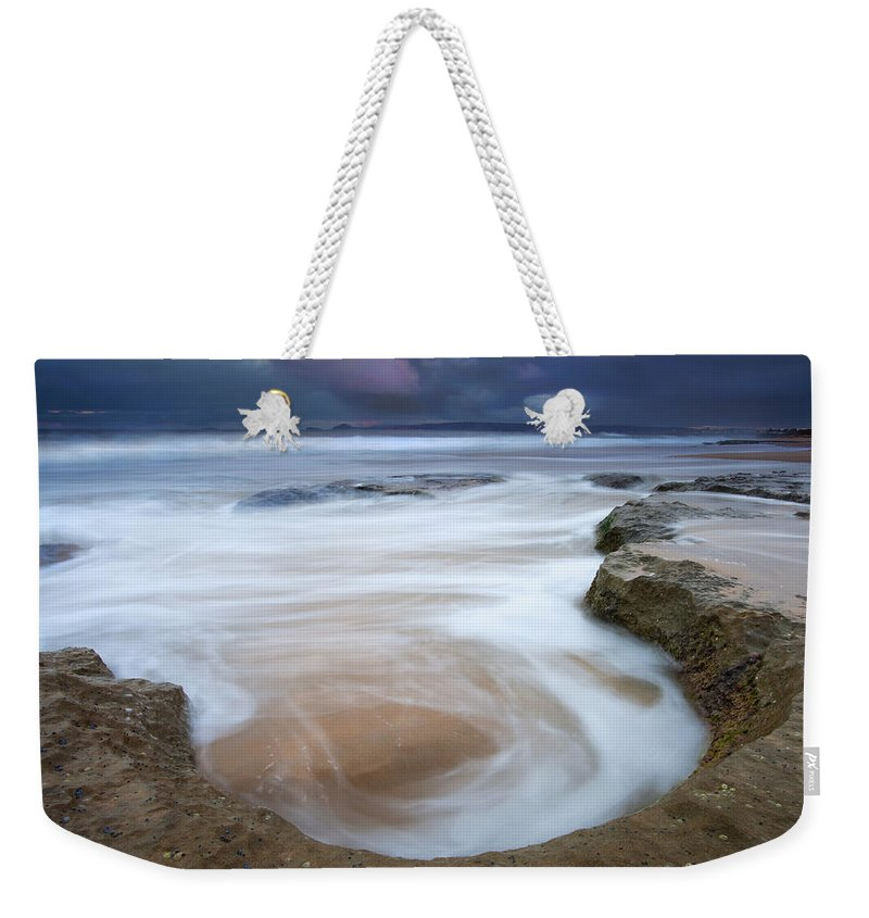 Sunrise Weekender Tote Bag featuring the photograph Stormy Sunrise by Mike Dawson