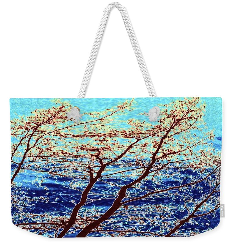Trees Weekender Tote Bag featuring the digital art Stormy Weather by Will Borden