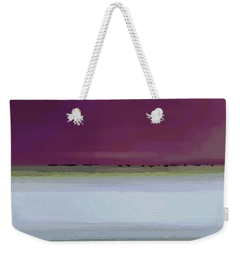 Abstract Weekender Tote Bag featuring the digital art Straight Across by Ruth Palmer