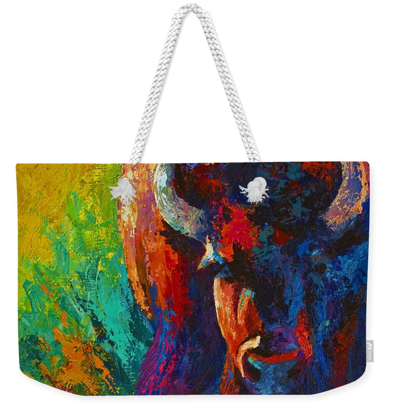 Wildlife Weekender Tote Bag featuring the painting Straight Forward Introduction by Marion Rose