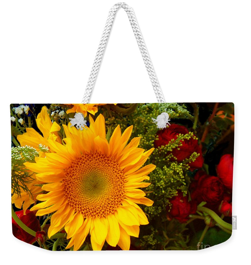 Sunflower Weekender Tote Bag featuring the photograph Straight No Chaser by RC DeWinter
