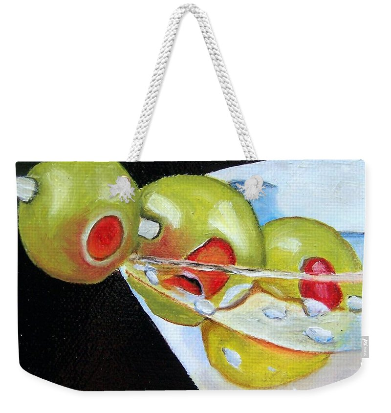 Martinin Weekender Tote Bag featuring the painting Straight Up - Sold by Susan Dehlinger