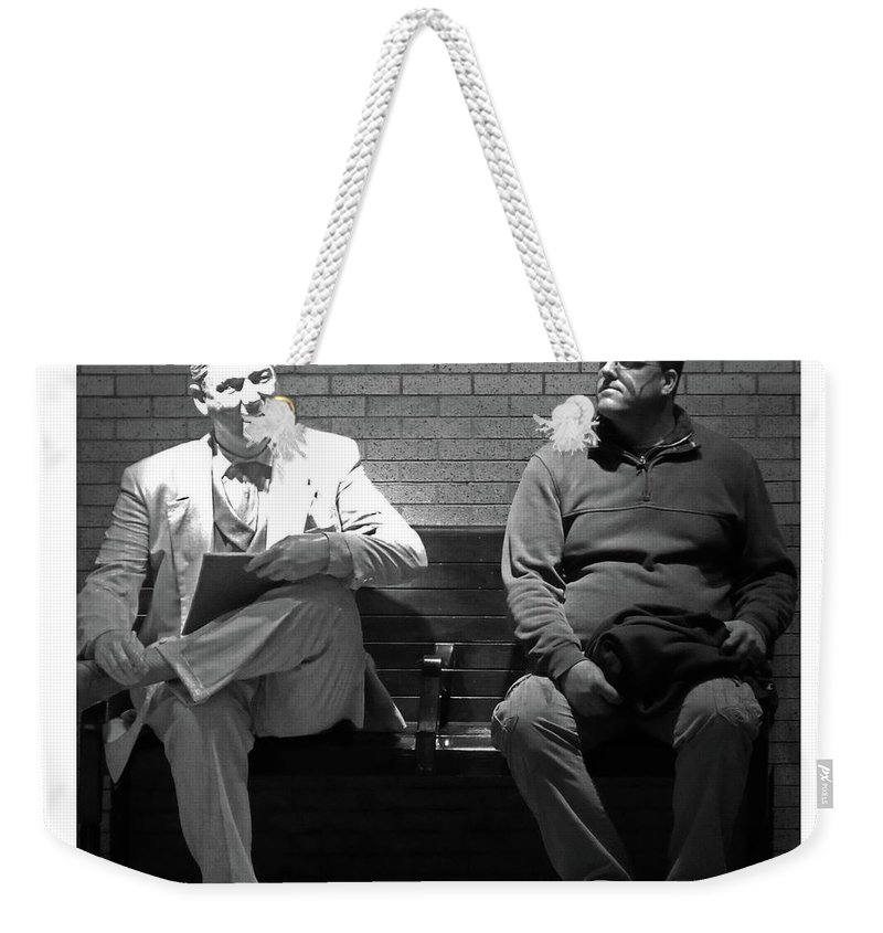 Sculpture Weekender Tote Bag featuring the photograph Strange Friends by Guy Ciarcia
