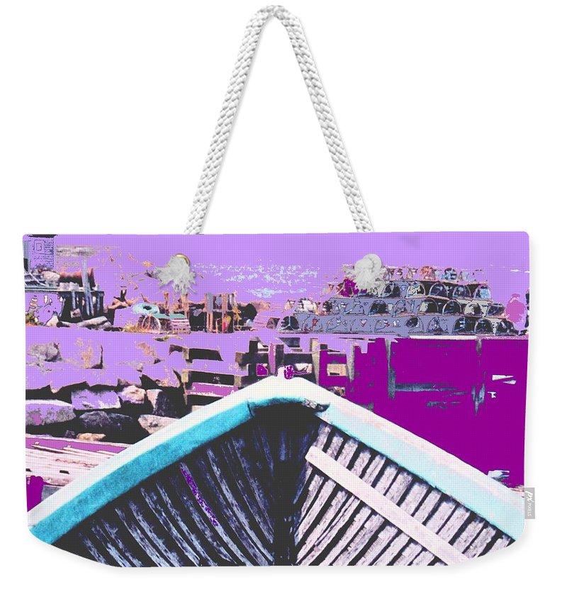 Nova Scotia Weekender Tote Bag featuring the photograph Strange Voyage by Ian MacDonald