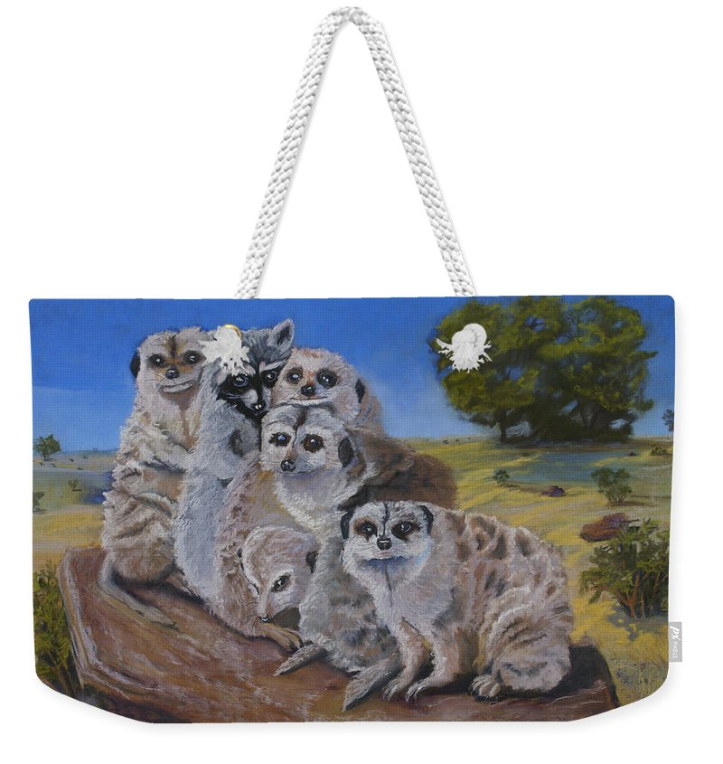 Meer Cat Weekender Tote Bag featuring the painting Stranger In A Strange Land by Heather Coen