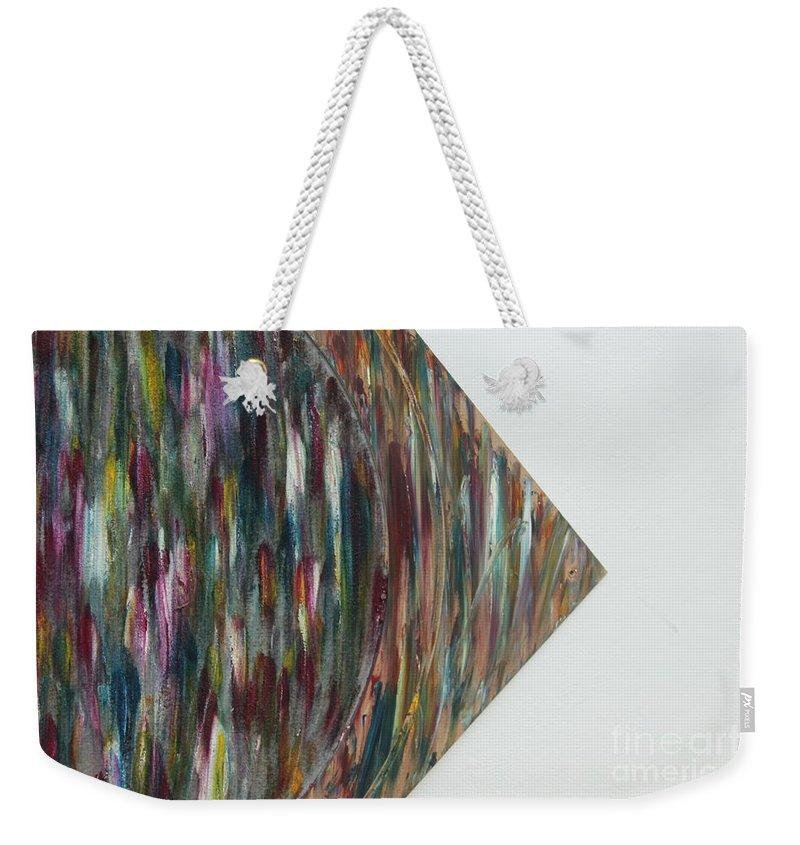 Art Weekender Tote Bag featuring the painting Strangers 4 by Nour Refaat