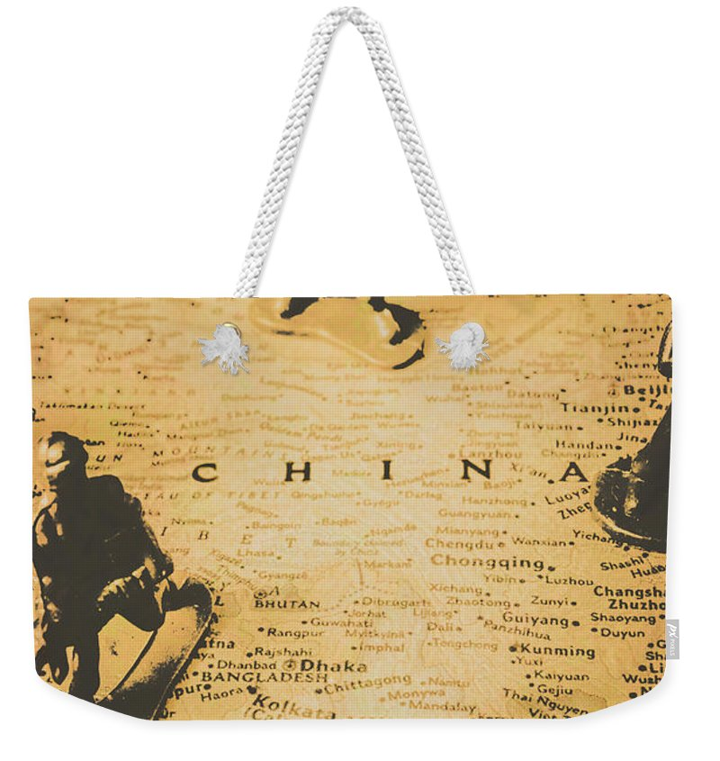 Army Weekender Tote Bag featuring the photograph Strategy Of Wars by Jorgo Photography - Wall Art Gallery