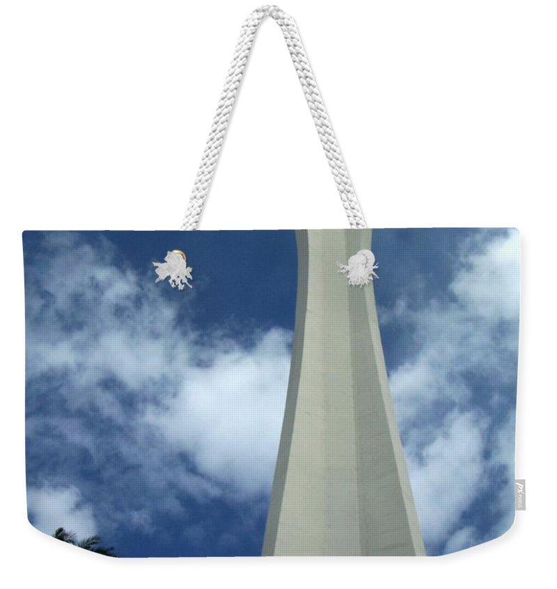 Stratosphere Tower Weekender Tote Bag featuring the photograph Stratosphere Tower by Anita Burgermeister