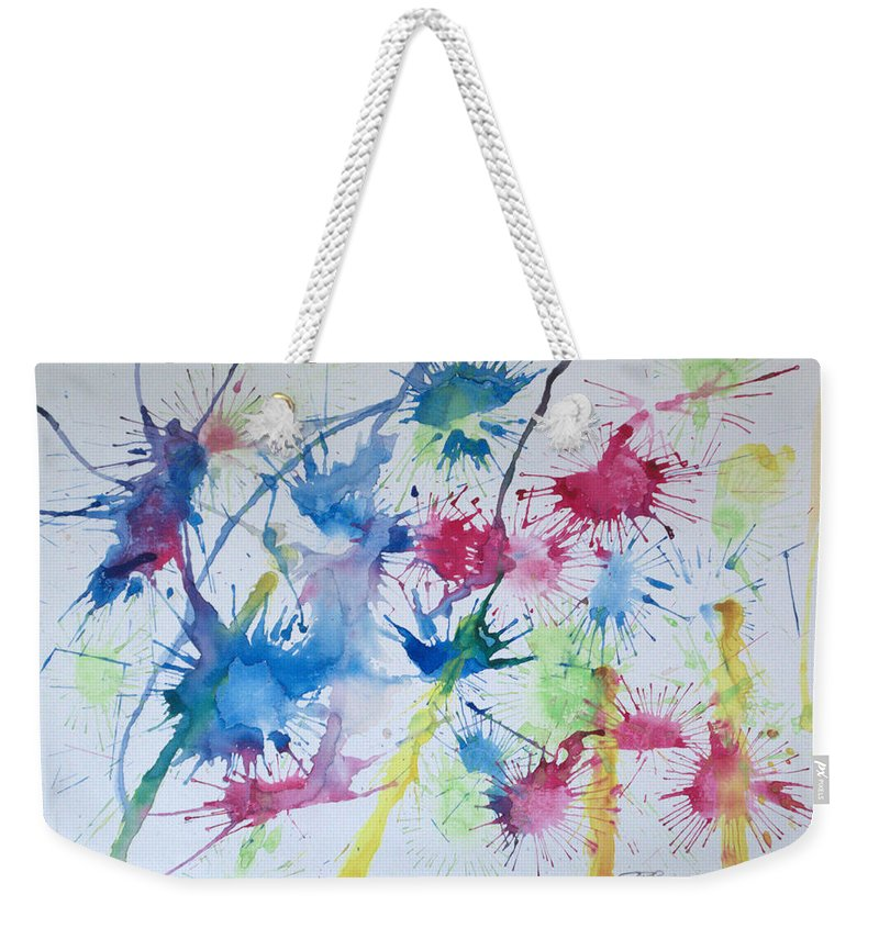 Straw Blown Painting Weekender Tote Bag featuring the painting Straw Blown by J R Seymour
