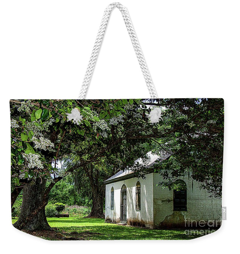 Strawberry Weekender Tote Bag featuring the photograph Strawberry Chapel Of Ease by Yvette Wilson