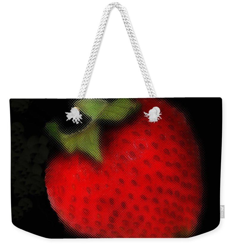 Still Life Weekender Tote Bag featuring the photograph Strawberry by Linda Sannuti