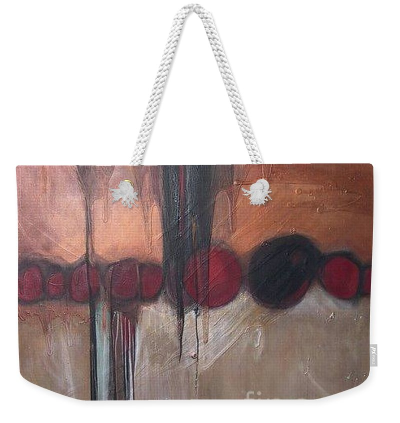 Metallics Weekender Tote Bag featuring the painting Streak by Marlene Burns