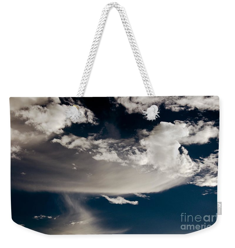 Clay Weekender Tote Bag featuring the photograph Streakin' Cloud by Clayton Bruster