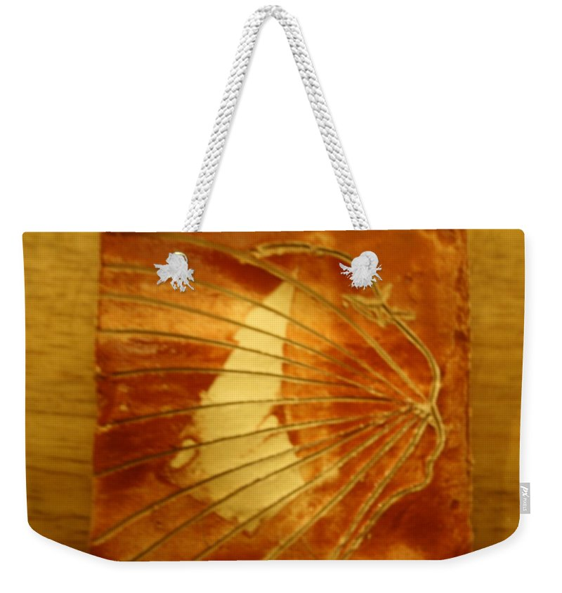 Jesus Weekender Tote Bag featuring the ceramic art Stream - Tile by Gloria Ssali