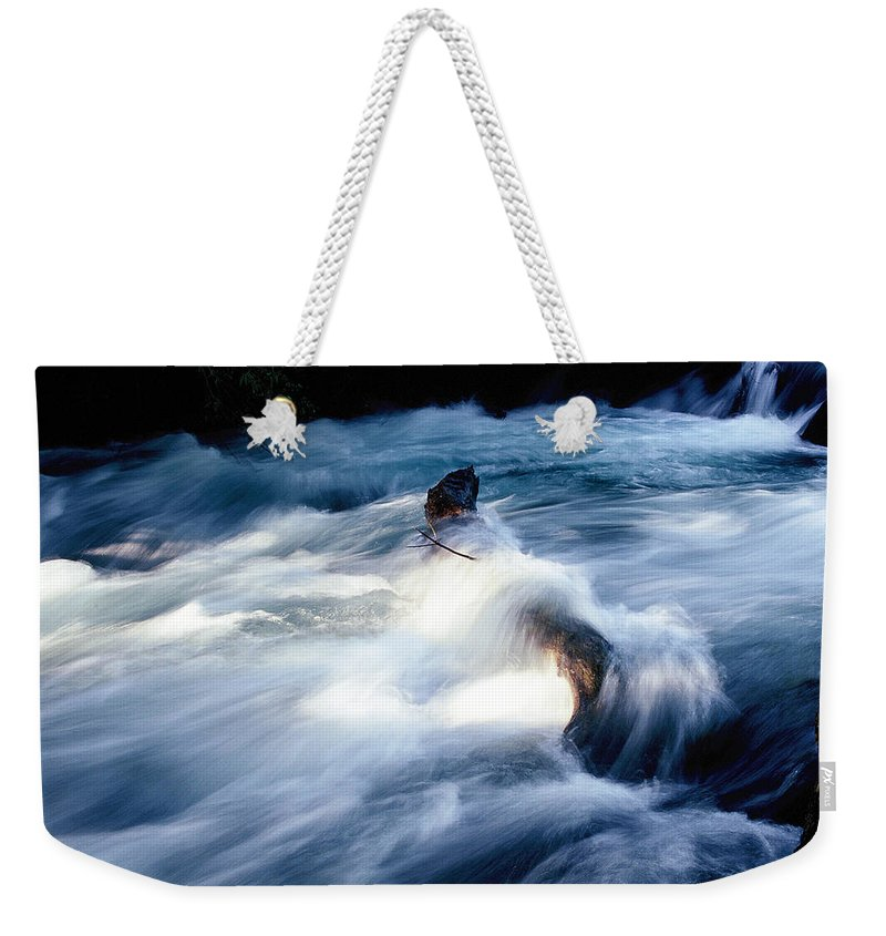 Dubi Roman Weekender Tote Bag featuring the photograph Stream 2 by Dubi Roman