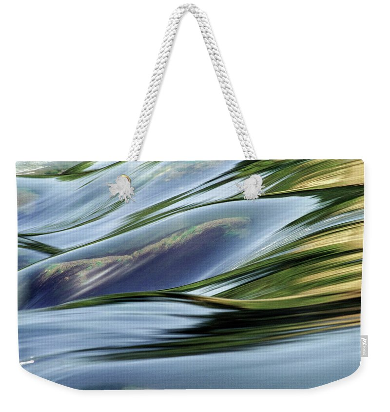 Dubi Roman Weekender Tote Bag featuring the photograph Stream 3 by Dubi Roman