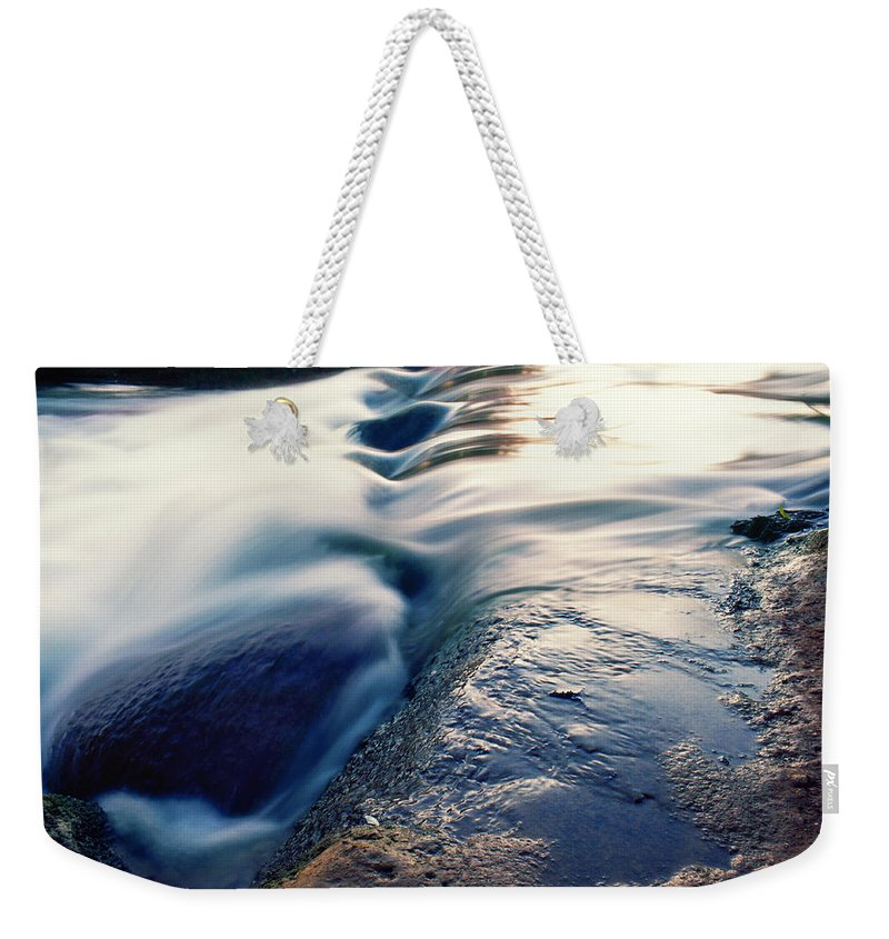 Dubi Roman Weekender Tote Bag featuring the photograph Stream 4 by Dubi Roman