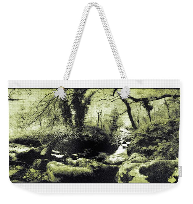 Stream Weekender Tote Bag featuring the photograph Stream In An Ancient Wood by Mal Bray