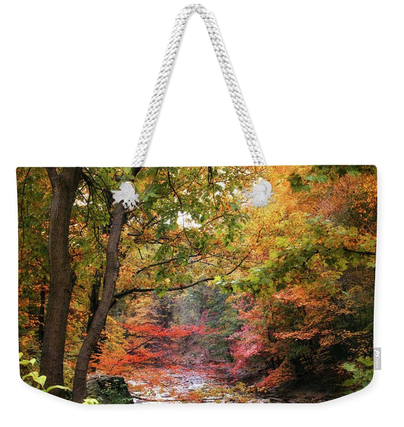Nature Weekender Tote Bag featuring the photograph Stream Of Consiousness by Jessica Jenney