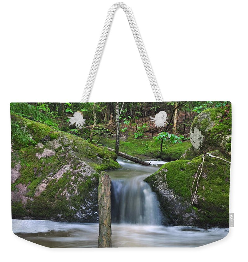 Waterfall Weekender Tote Bag featuring the photograph Stream Waterfall by Glenn Gordon
