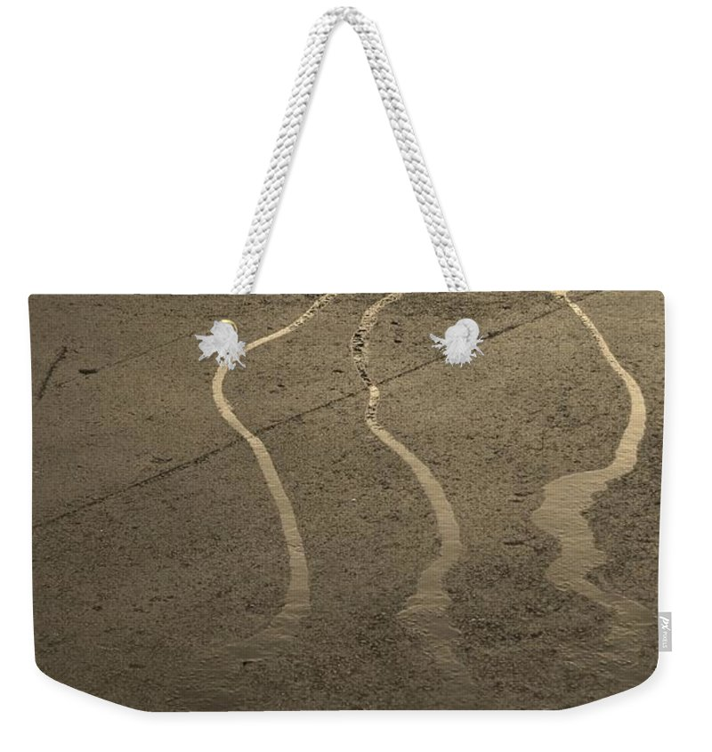 Water Weekender Tote Bag featuring the photograph Streams In The Lot by Rob Hans