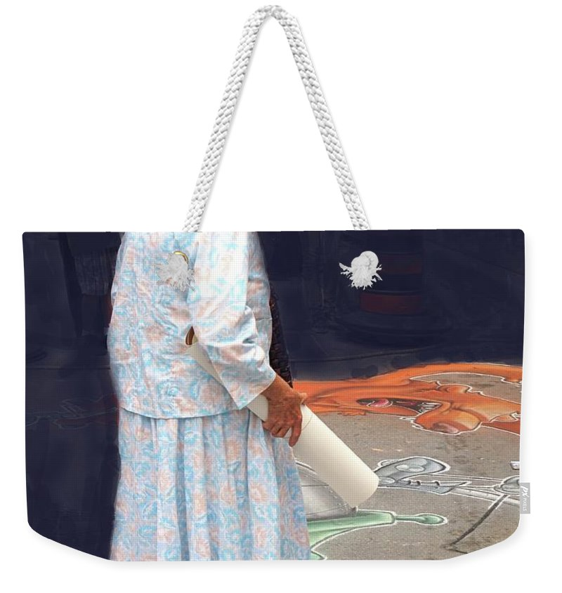 Old Weekender Tote Bag featuring the photograph Street Art by Ian MacDonald