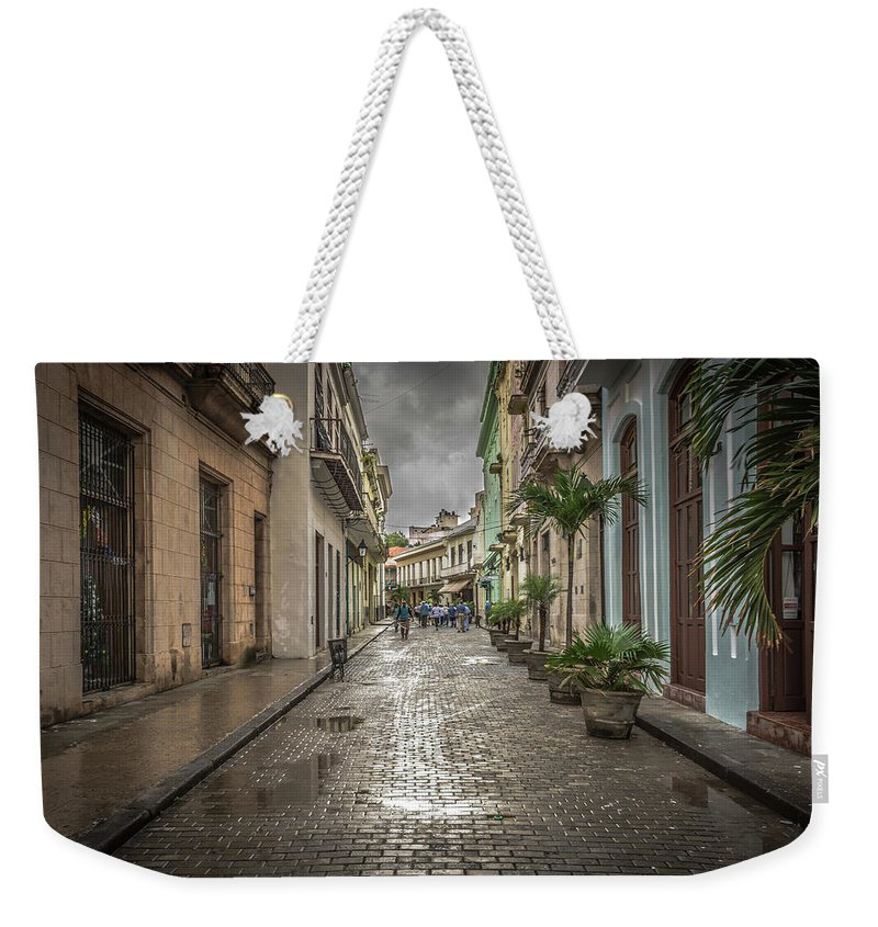 Havana Weekender Tote Bag featuring the photograph Street by Bill Howard
