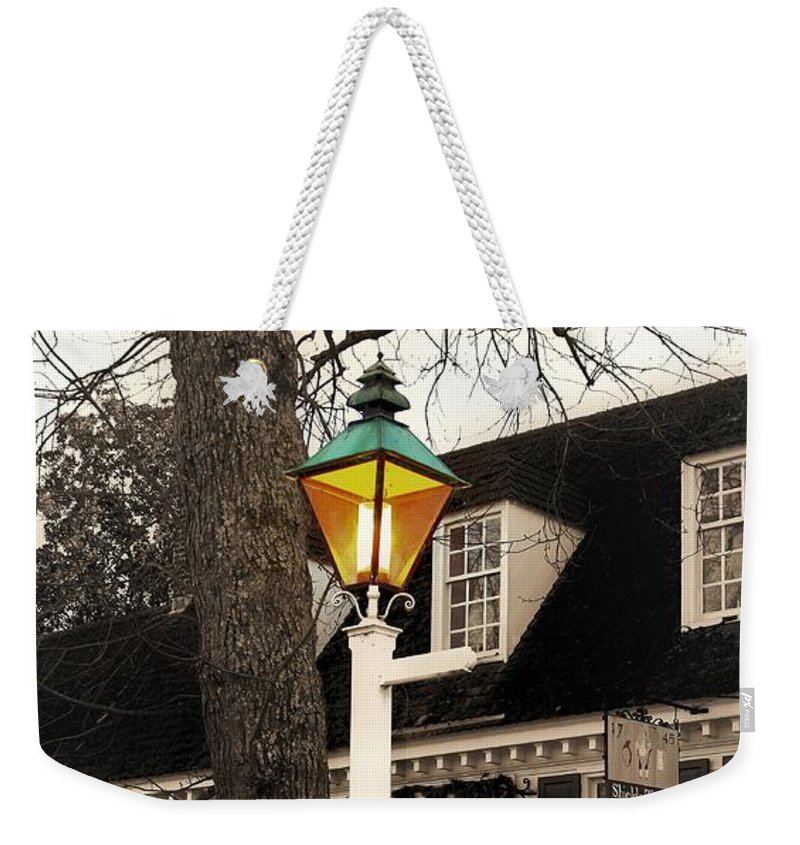 Street Lamp Weekender Tote Bag featuring the photograph Street Lamp by Patti Whitten
