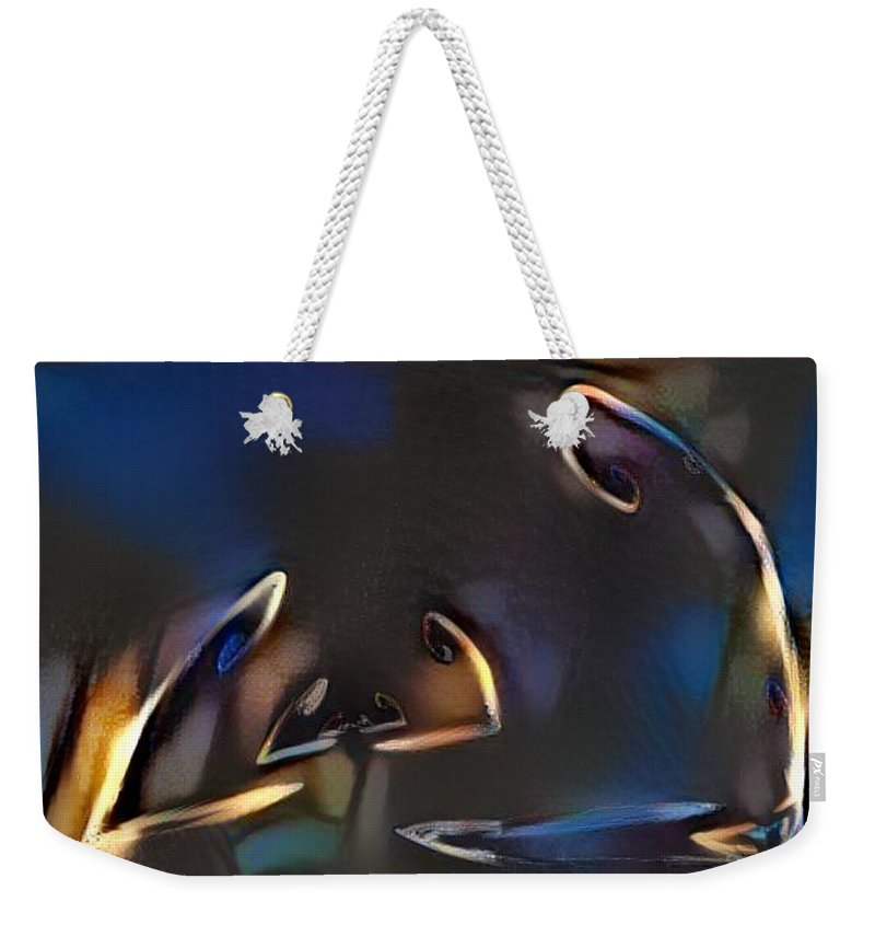 Abstract Weekender Tote Bag featuring the digital art Street Lights by Bruno Lopes