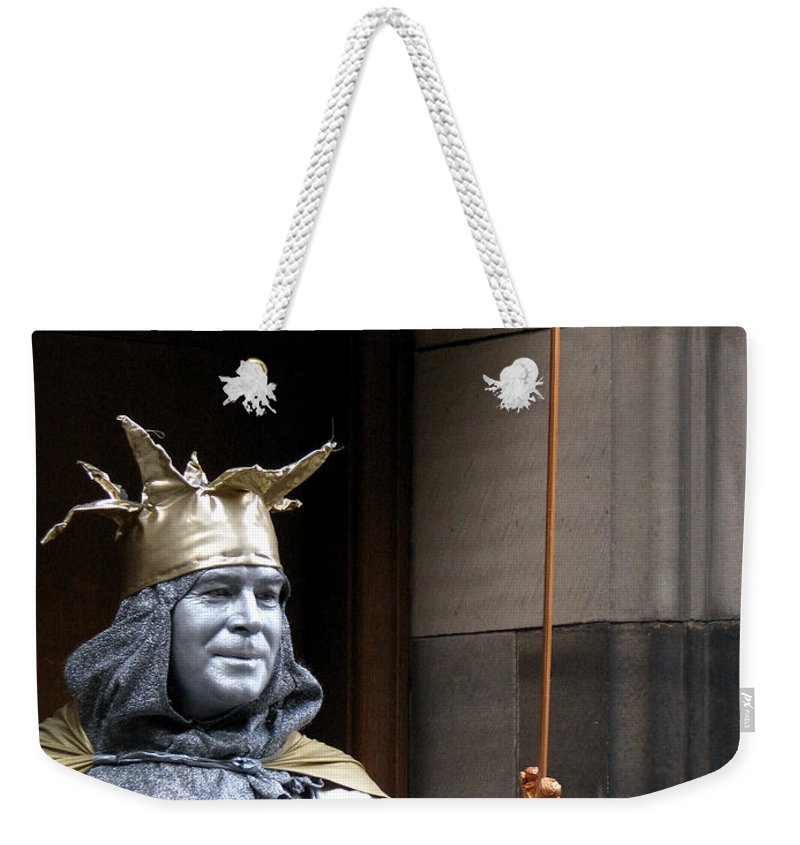 Street Performer Weekender Tote Bag featuring the photograph Street Performer by Amanda Barcon