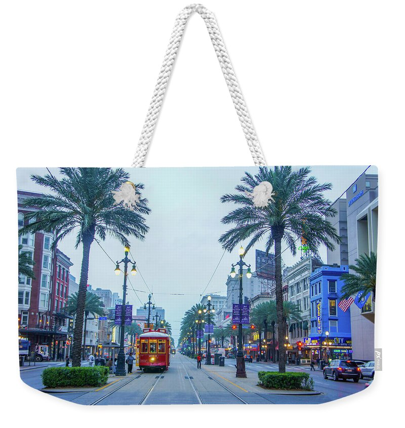 Attraction Weekender Tote Bag featuring the photograph Street Scene, New Orleans by Art Spectrum