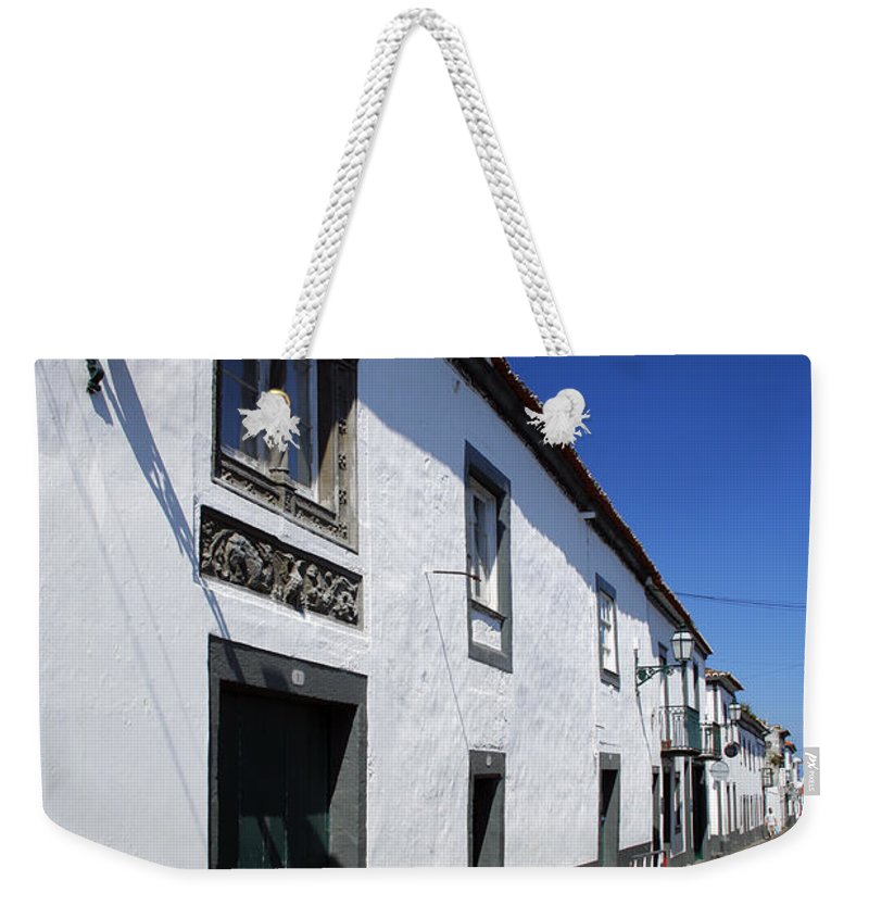 Portugal Weekender Tote Bag featuring the photograph Streets Of Ribeira Grande by Gaspar Avila